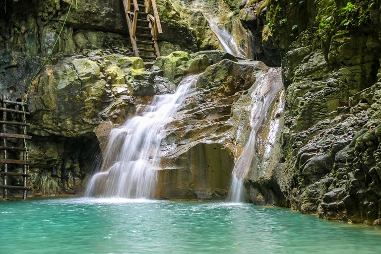 GroBe Antillen, Karibik, Dominikanische Republik, Imbert, Naturjuwel 27 Charcos de Damajagua