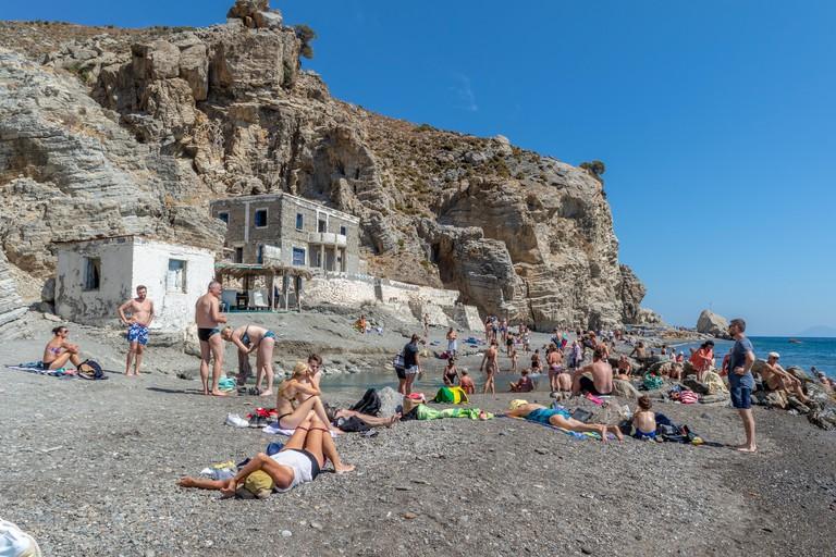 Therma Beach on the island of Kos, Greece.