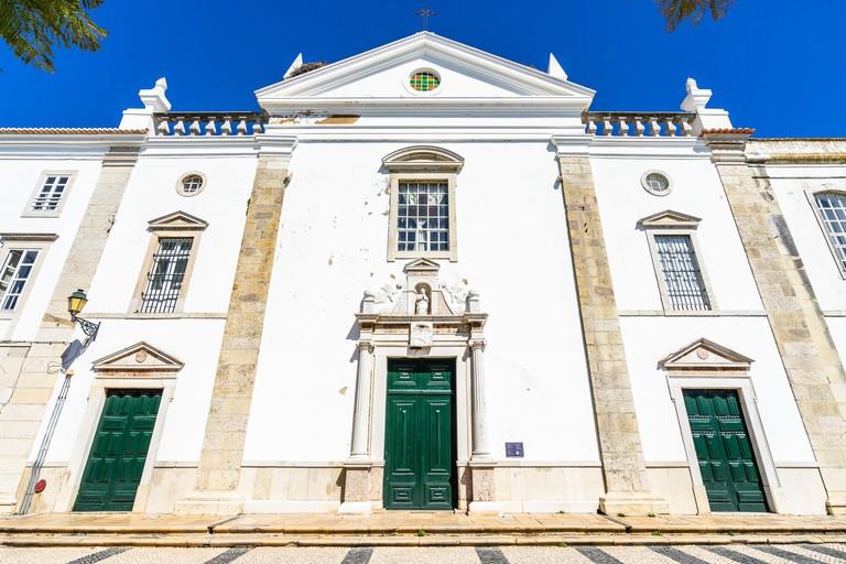 Facade of Igreja da Misericordia, Faro, Algarve, Portugal