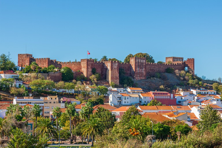 silves castle portugase algarve portugal