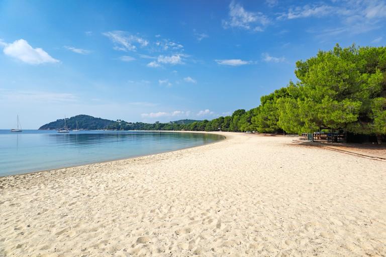 2AB3KYM The beach Koukounaries of Skiathos island, Greece