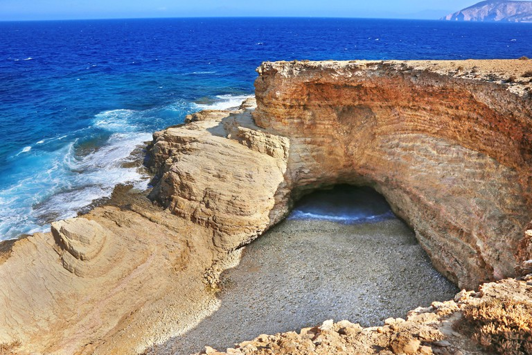2AGT31E Gala beach at Ano Koufonisi island Greece