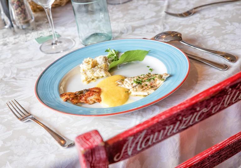 """Venezien/Castelletto di Brenzone: """"Osteria al Pescatore"""" in der Via Imbarcadero 31, Gardasee   usage worldwide"""
