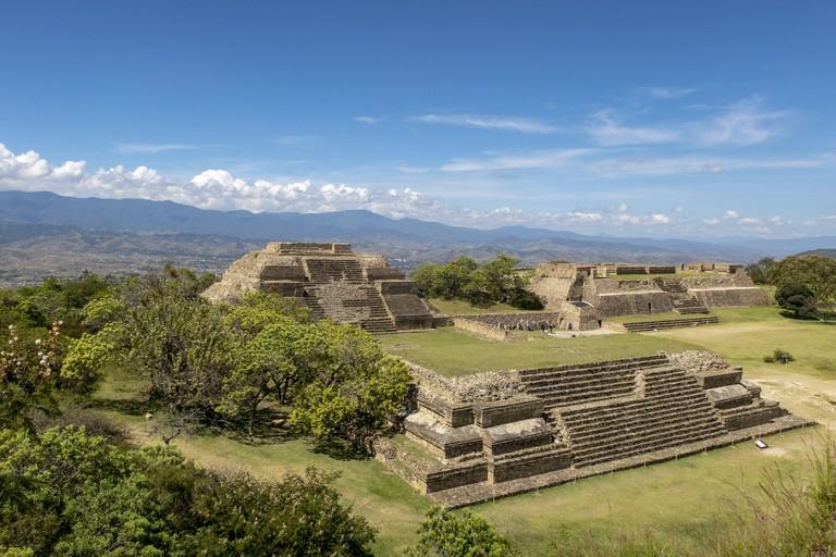 2AY95TY Pyramids on Monte Alban near Oaxaca, Mexico