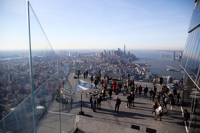 New York, USA. 11th Mar, 2020. Inauguration of The Edge observatory in New York in the USA this Wednesday, 11. It is the tallest observatory with the open deck of the western hemisphere showing unrivaled 360-degree views of the iconic New York City skylin