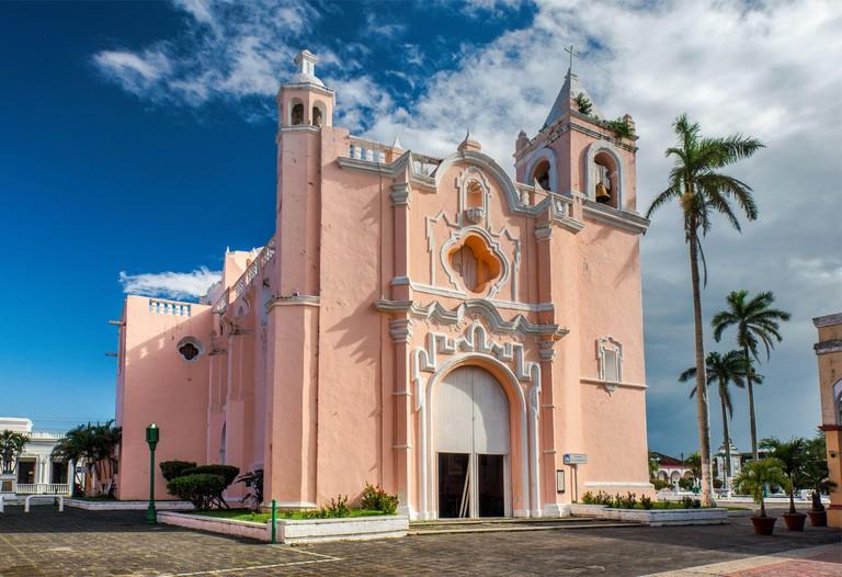 Iglesia La Candelaria, Plaza Zaragoza, in Tlacotalpan, UNESCO World Heritage Site, Veracruz state, Mexico