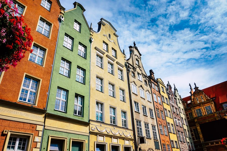 Old Town in Gdansk - tenements, Poland