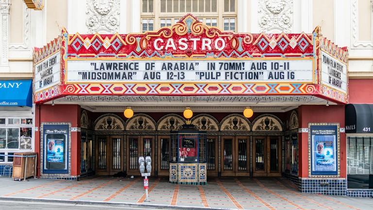 San Francisco, California, USA - August 2019: Castro Theatre building on Castro Street in San Francisco