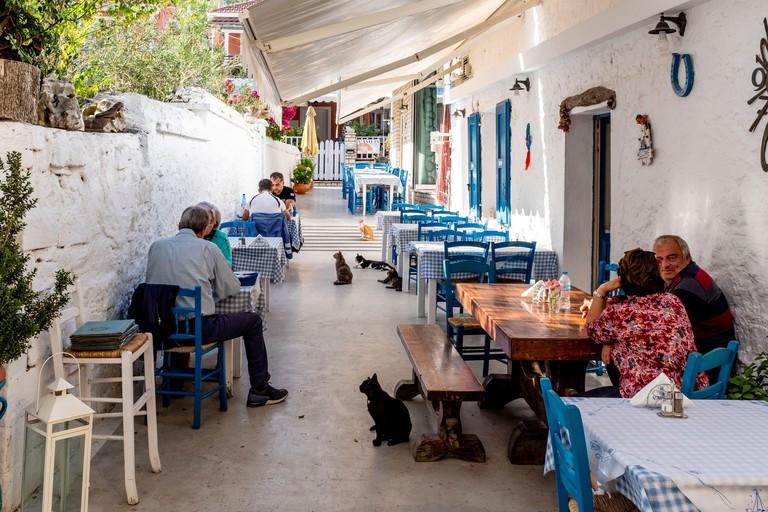 Vasilis Restaurant. Paxos Island, Greece.