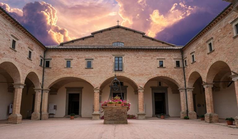 basilica of sant'ubaldo in the fortress of gubbio umbria italy