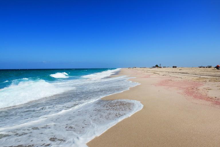 The beautiful beach in Ras Al Hadd in Oman.