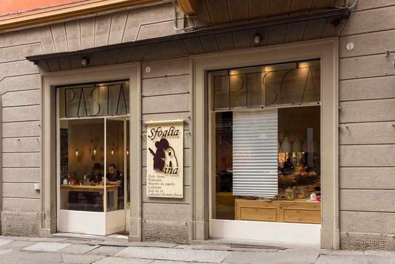 The Sfoglia ina restaurant in Bologna Italy