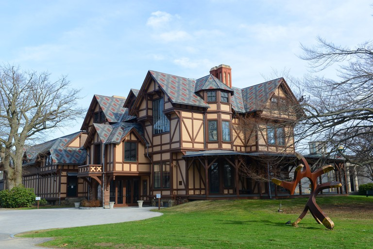 John N. A. Griswold House is home to the Newport Art Museum with American Stick Style on Bellevue Avenue, Newport, Rhode Island, USA. This house was b