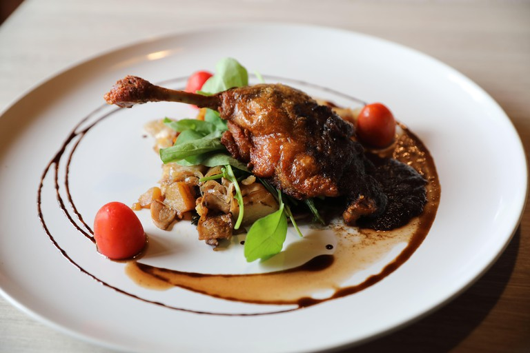 duck confit , Roasted Duck leg French food
