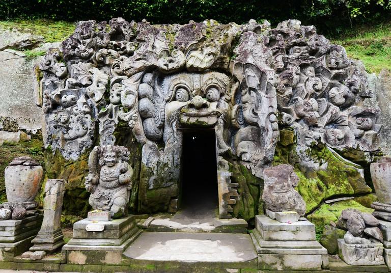 Goa Gajah ( Elephant cave ) temple complex and sanctuary near Ubud, Bali, Indonesia.