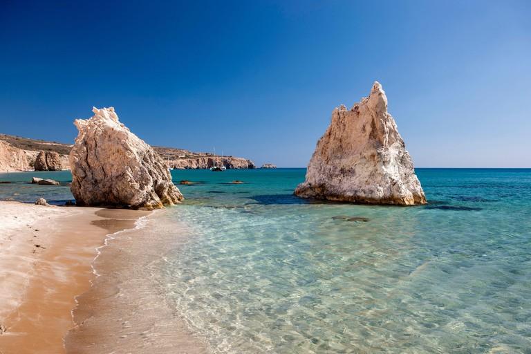Fyriplaka beach, Milos Island, Greece, Milos, Cyclades, Greece, Europe