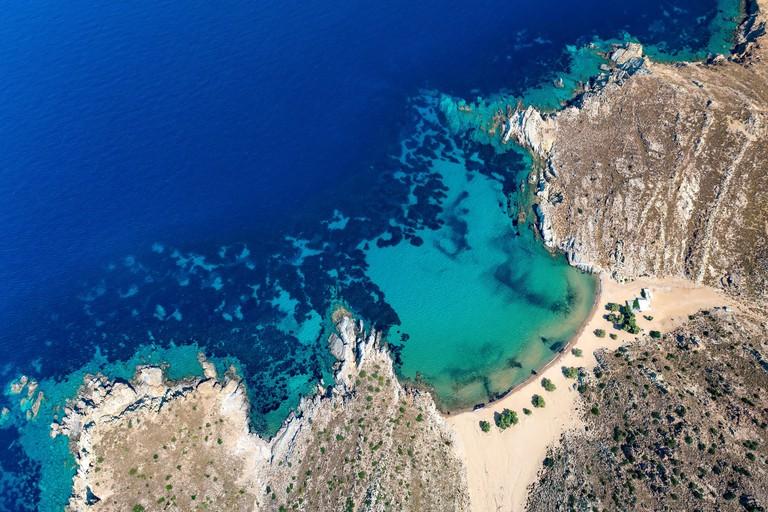 Psili Ammos Beach, Patmos, Greek Islands, Greece, Europe