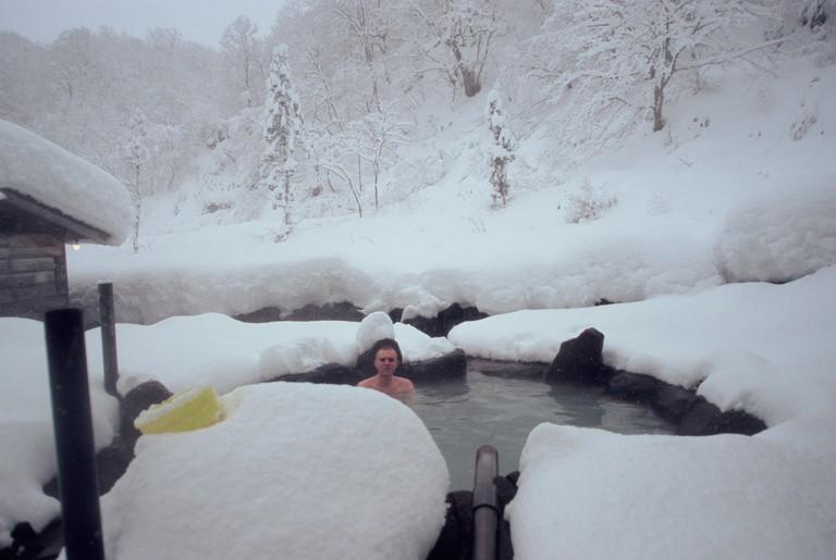ADRTGD Ganiba Hotspring in winter Akita Prefecture Japan