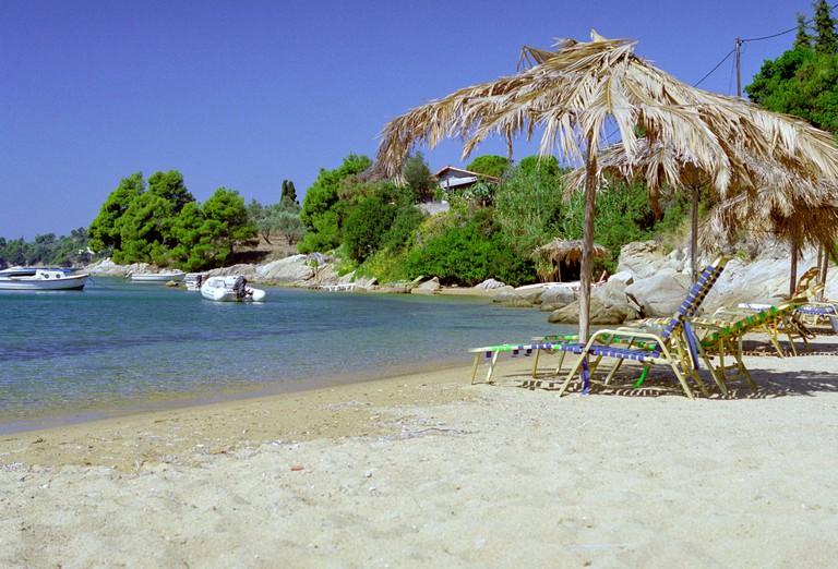 AG1F3E Kolios Bay Skiathos Greece