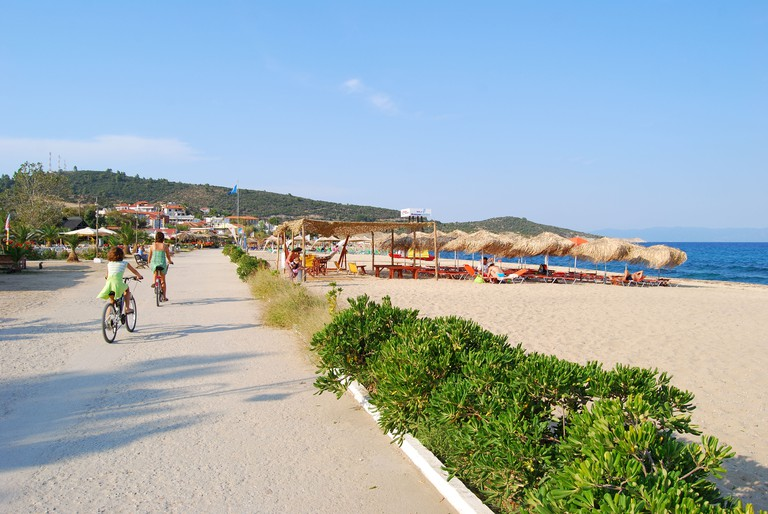 Sarti beach, Sarti, Sithonia Peninsula, Chalkidiki, Central Macedonia, Greece. Image shot 2008. Exact date unknown.