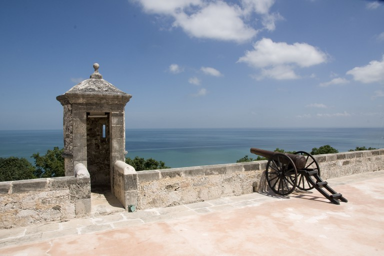 Fort San Miguel, overlooking Campeche from the south, houses the Campeche Regional Museum displaying prehispanic antiquities.