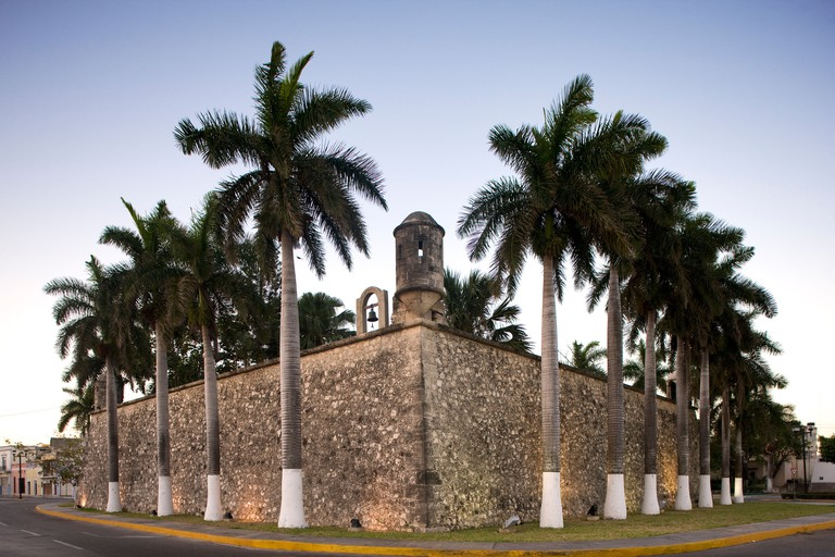 Mexico, Campeche State, Campeche City, historical center classified as World Heritage by UNESCO, a Baluarte or old bastion