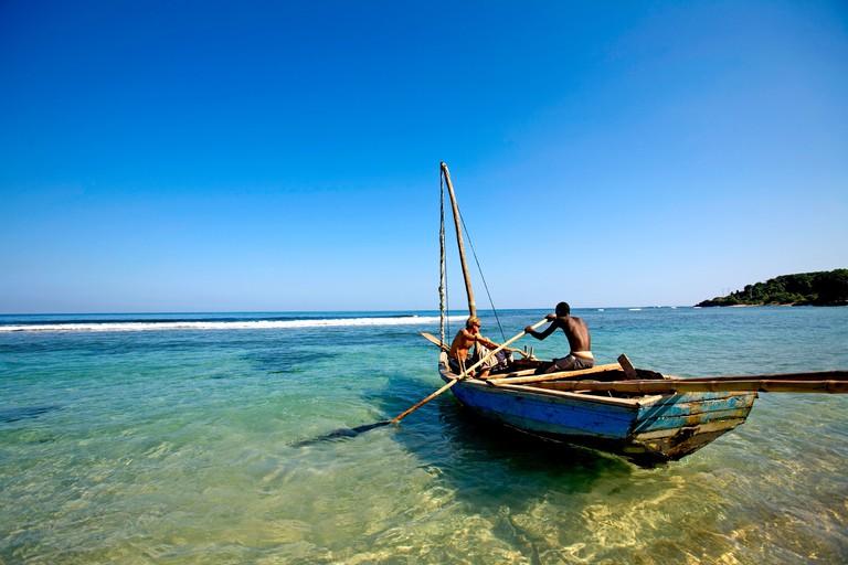 Haiti, Nord, Cap Haitien. Local fisherman, Zed Layson, Cormier Plage.. Image shot 2007. Exact date unknown.