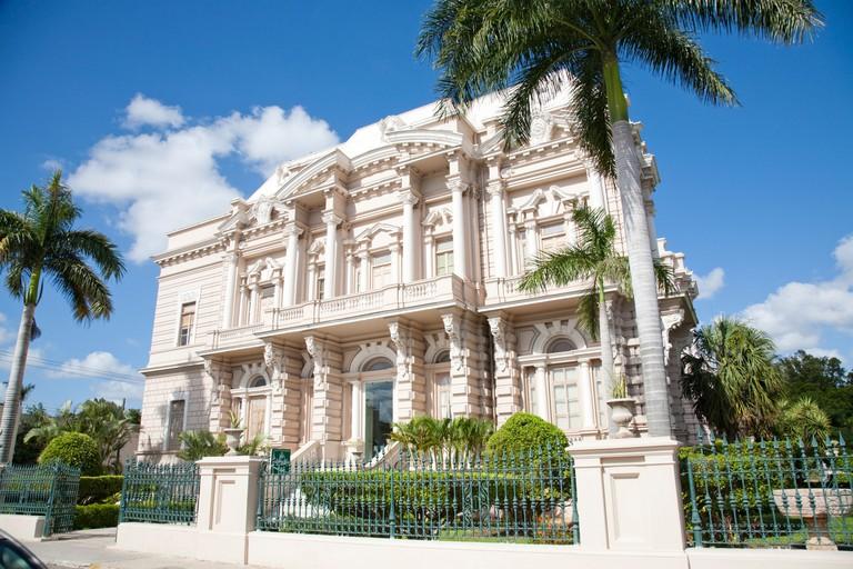 Palacio Canton the Archaeology Museum. Merida, Yucatan, Mexico.