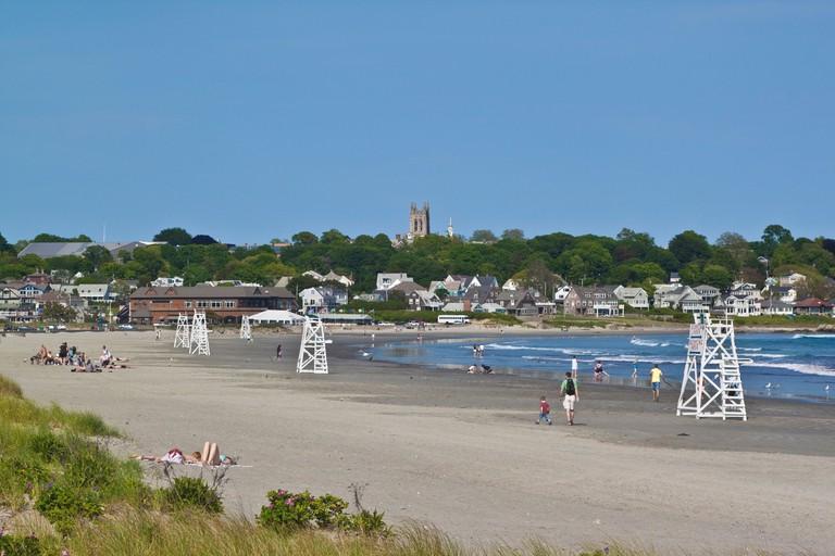 Easton's Beach, locally known as First Beach, Newport, Rhode Island, USA
