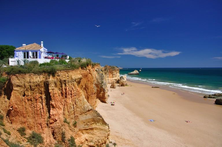 Praia da Rocha, Portimao, Portimao Municipality, Faro District, Algarve Region, Portugal.