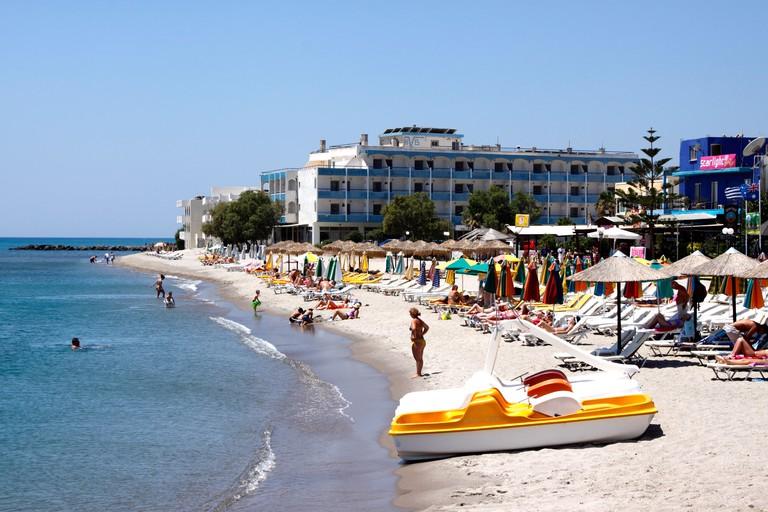 KARDAMENA VILLAGE BEACH ON THE GREEK ISLAND OF KOS.. Image shot 06/2011. Exact date unknown.