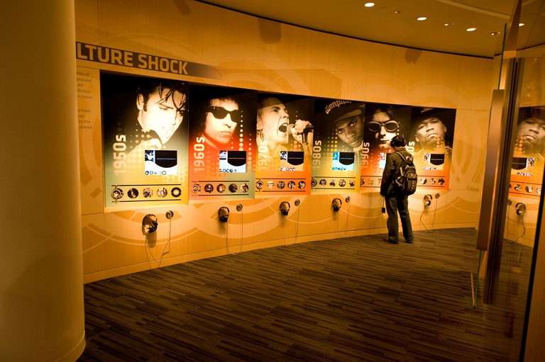 Display at The Grammy Museum in downtown Los Angeles