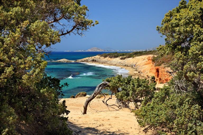 "CPK42K ""Passage"" to Alyko beach, at Kedrodasos (""Cedar forest""), Naxos island, Cyclades, Greece"