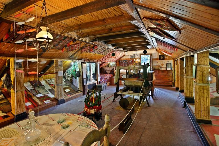 "Inside the folklore museum of Karya village, Lefkada (or ""Lefkas"") island, Ionian sea, Eptanisa (""Seven Islands""), Greece"