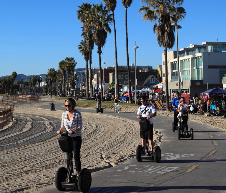 Segways, Venice Beach, Los Angeles, California, USA