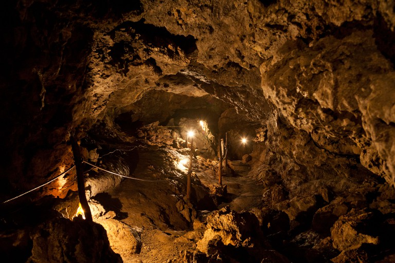 Lava tunnels, Santa Rosa, Santa Cruz Island, Galapagos Islands, Ecuador