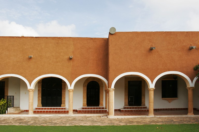 Exterior of ´hacienda´, Teya. Yucatan, Mexico