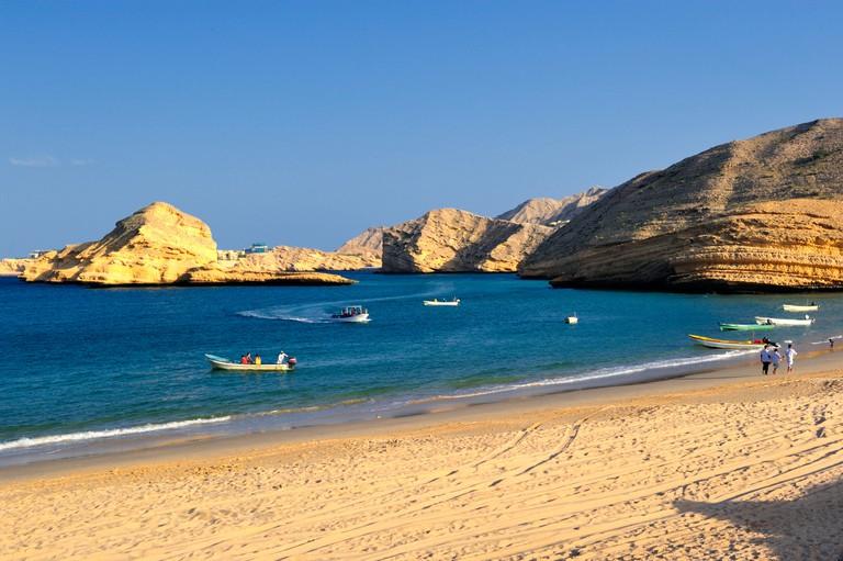 Bandar Jissah  Jissah Beach  Muscat, Oman.