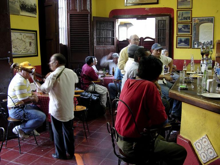 Cantina Rincon Colonial. Traditional bar in Campeche city centre. Mexico.