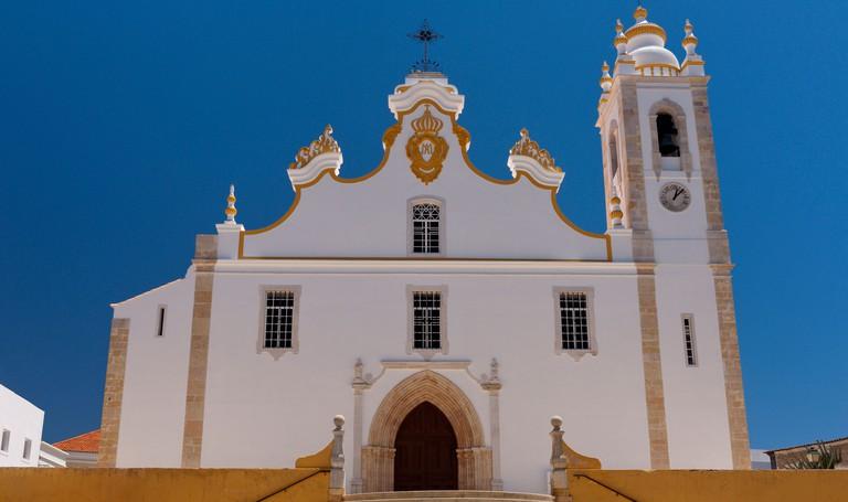 Portugal, the Algarve, Portimao, the Igreja Matriz church. Image shot 2015. Exact date unknown.