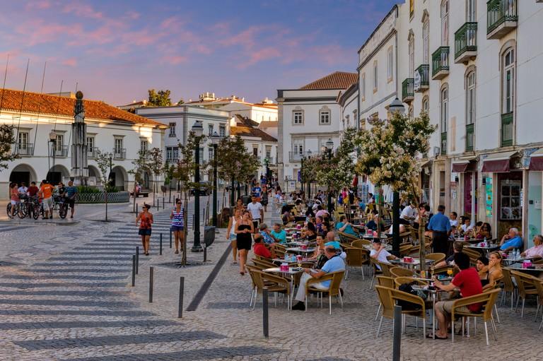 DGDANX Portugal, the Algarve, Tavira, cafes in the Praca da Republica