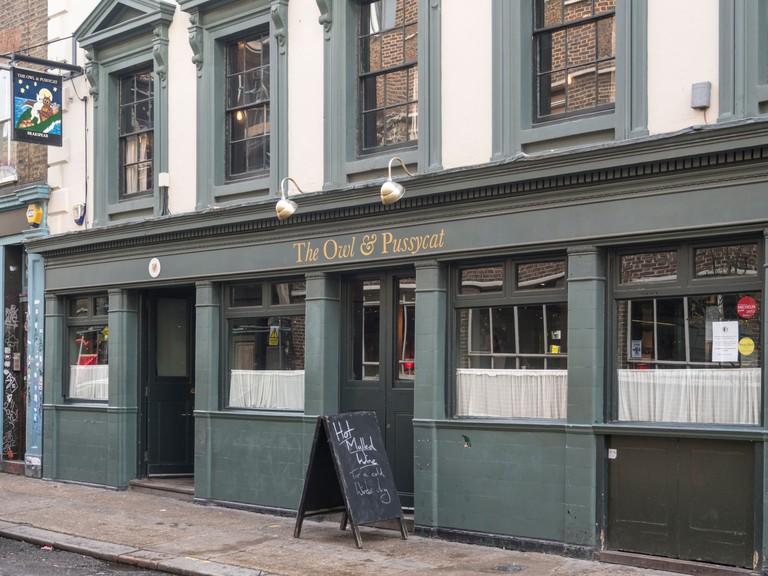 The Owl & Pussycat pub in Redchurch Street,  London, England