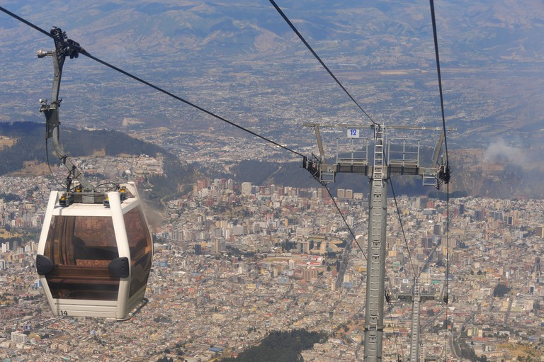 Aerial tramway also known as Teleferico, Quito city, capital of Ecuador. Image shot 09/2009. Exact date unknown.