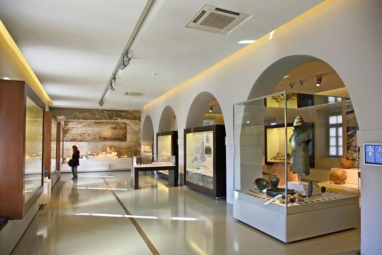 "One of the halls of the Archaeological museum of Nafplio, Argolis (""Argolida""), Peloponnese."