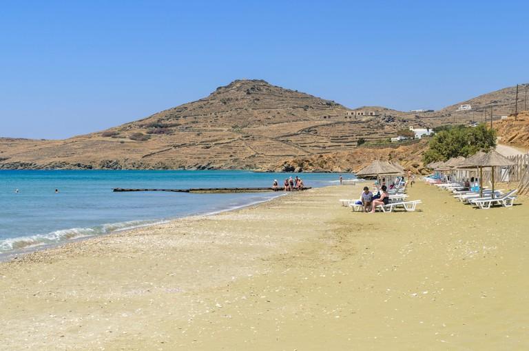 Kionia Beach on Tinos Island, Cyclades, Greece. Image shot 2013. Exact date unknown.