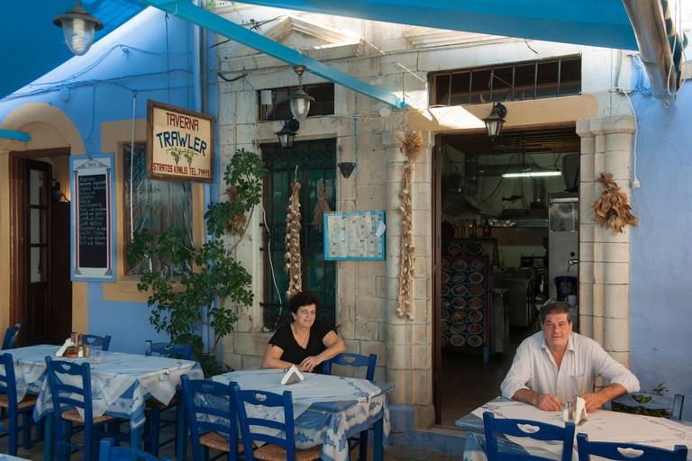 Griechenland, Symi, Gialos, familiengefuhrte Taverne Trawler