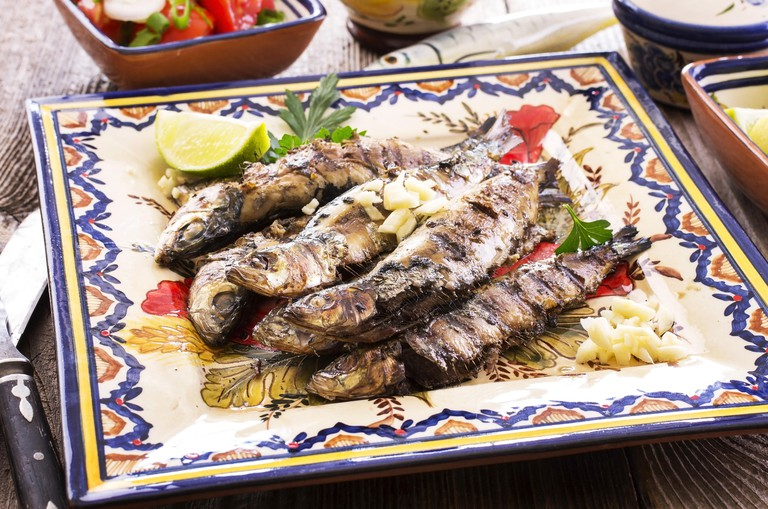 grilled sardines. Image shot 01/2014. Exact date unknown.