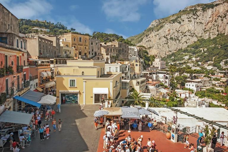 Piazzetta Capri Island, the most fashionable square in the world