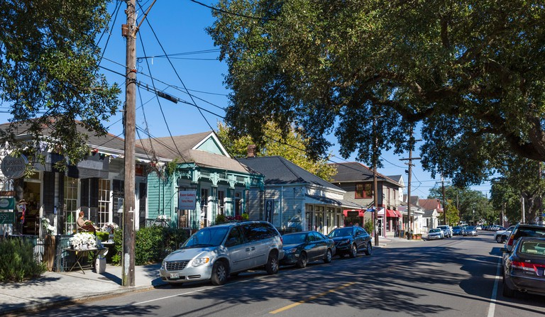 Magazine Street in the Touro neigbourhood of Central City, New Orleans, Lousiana, USA