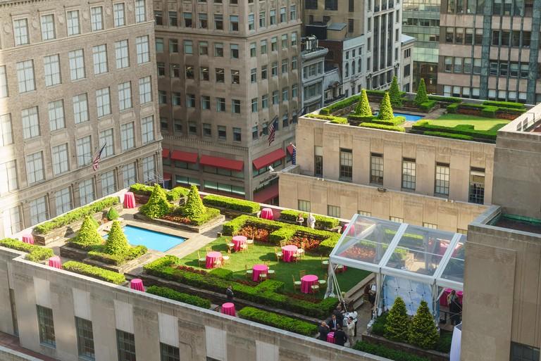 Rooftop in Rockefeller Center New York